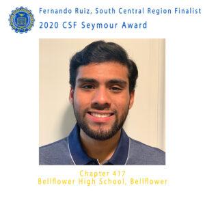 Fernando Ruiz, 2020 CSF Seymour Award South Central Region Finalist
