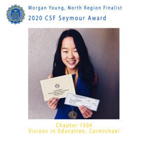 Morgan Young, 2020 CSF Seymour Award North Region Finalist