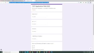 Google form fall 2020
