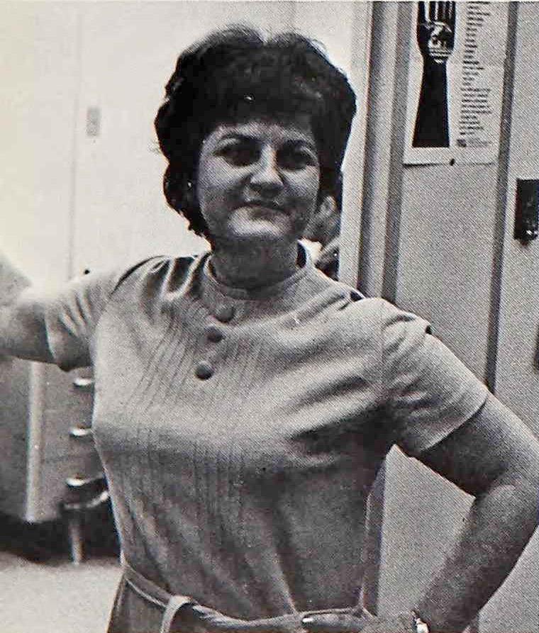 Miss Grennan, CSF Adviser, Los Alamitos High School CSF 1971