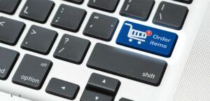 computer keyboard shopping cart key