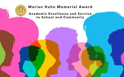 Congratulations 2020-2021 Marian Huhn Award Recipients