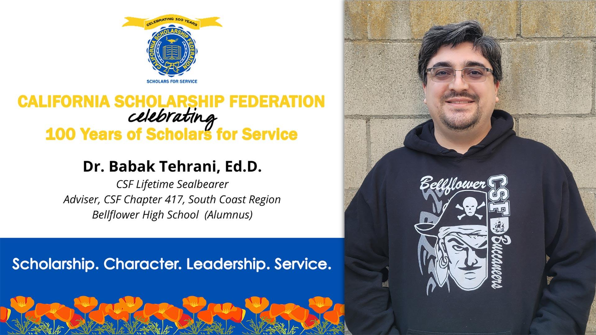 Dr. Babak Tehrani CSF-417 Bellflower HS Adviser and Alumnus