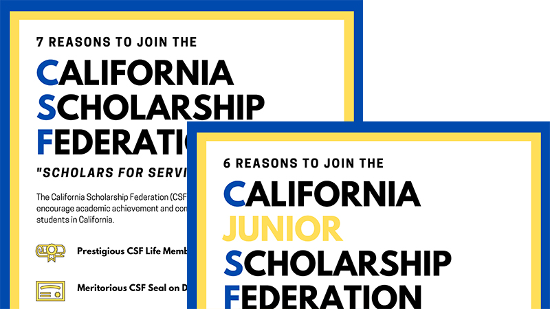 CSF and CJSF recruiting posters 0 Horizon Charter Schools