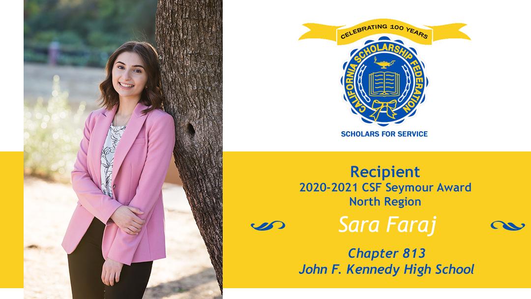Sara Faraj Seymour Award 2020-2021 North Region Recipient