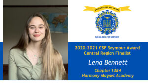 Lena Bennett is a Seymour Award 2020-2021 Central Region Finalist