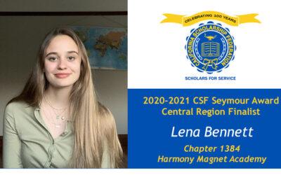 Lena Bennett Seymour Award 2020-2021 Central Region Finalist