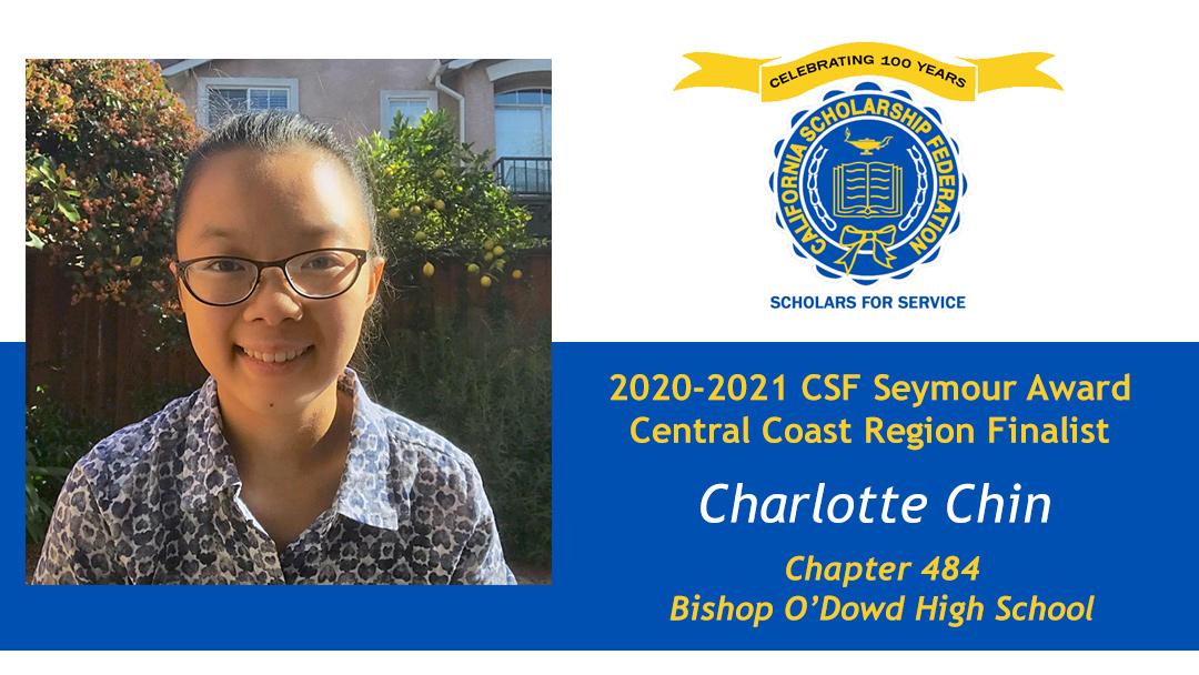 Charlotte Chin is a Seymour Award 2020-2021 Central Coast Region Finalist