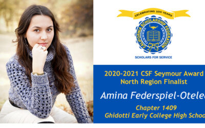 Amina Federspiel-Otelea Seymour Award 2020-2021 North Region Finalist