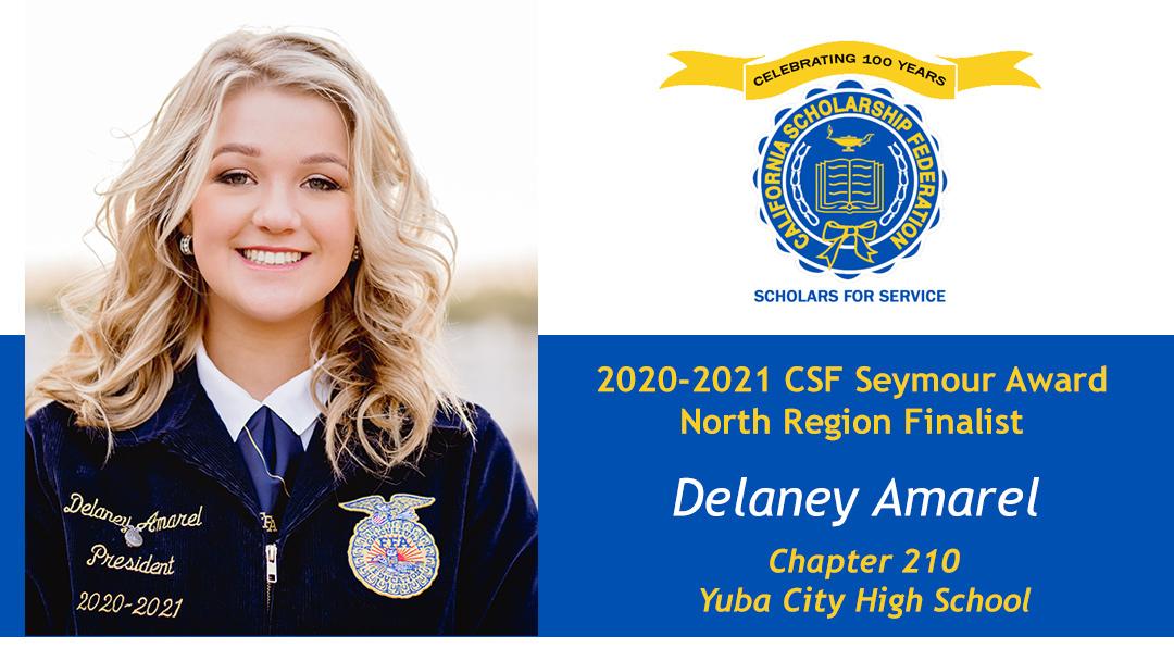DELANEY AMAREL SEYMOUR AWARD 2020-2021 NORTH REGION FINALIST