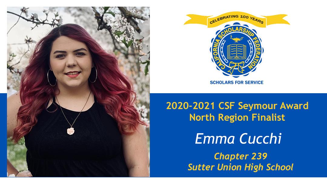 Emma Cucchi Seymour Award 2020-2021 North Region Finalist