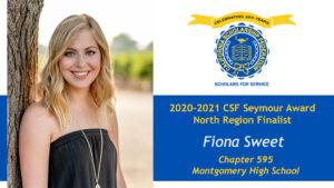 Fiona Sweet is a Seymour Award 2020-2021 North Region Finalist