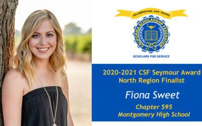 Fiona Sweet Seymour Award 2020-2021 North Region Finalist