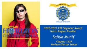 Safiya Munif Seymour Award 2020-2021 North Region Finalist