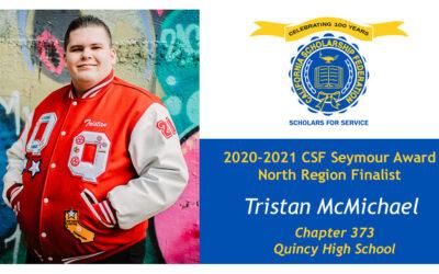 Tristan McMichael Seymour Award 2020-2021 North Region Finalist