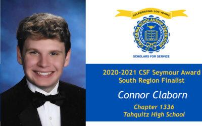 Connor Claborn Seymour Award 2020-2021 South Region Finalist