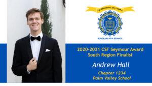 Andrew Hall Seymour Award 2020-2021 South Region Finalist