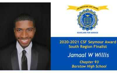 Jamaal WIllis Seymour Award 2020-2021 South Region Finalist