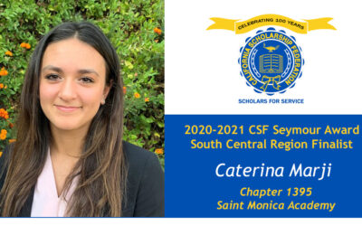 Caterina Marji Seymour Award 2020-2021 South Central Region Finalist