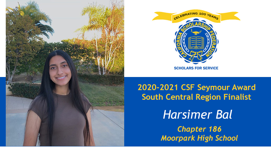 Harsimer Bal is a Seymour Award 2020-2021 South Central Region Finalist