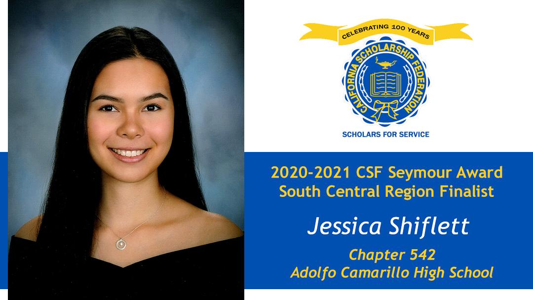 Jessica Shiflett is a Seymour Award 2020-2021 South Central Region Finalist