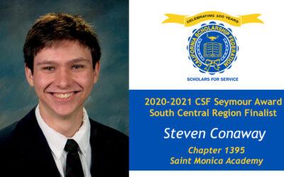 Steven Conaway Seymour Award 2020-2021 South Central Region Finalist