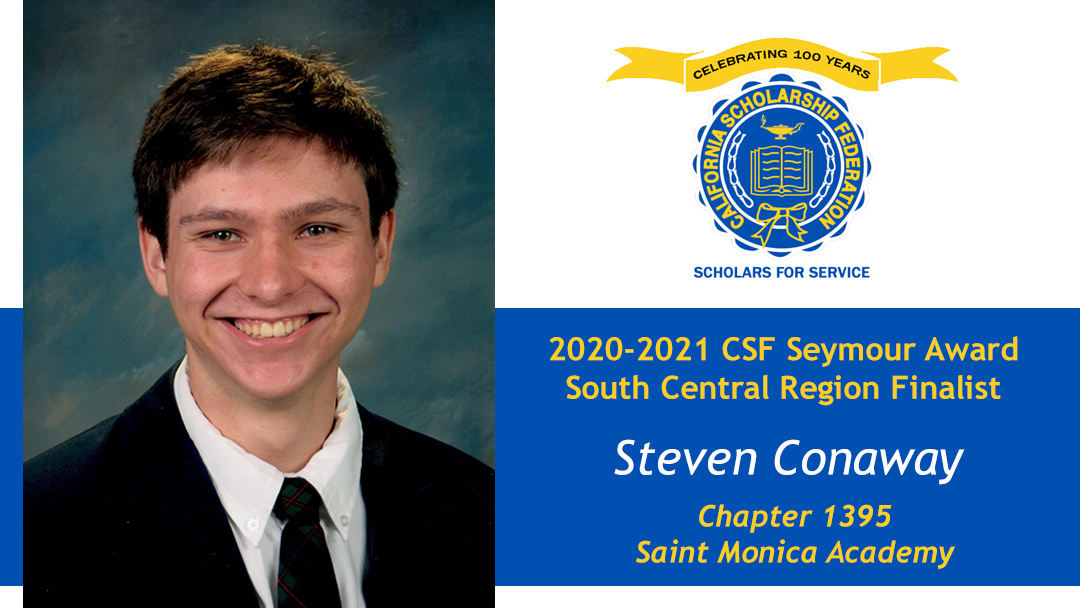 Steven Conaway is a Seymour Award 2020-2021 South Central Region Recipient