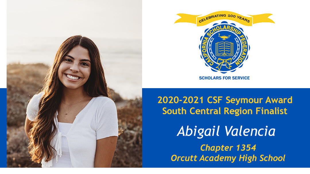 Abigail Valencia Seymour Award 2020-2021 South Central Region Finalist