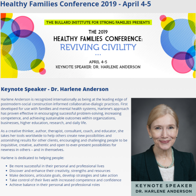 Healthy Families Conference 2019 April 4-5