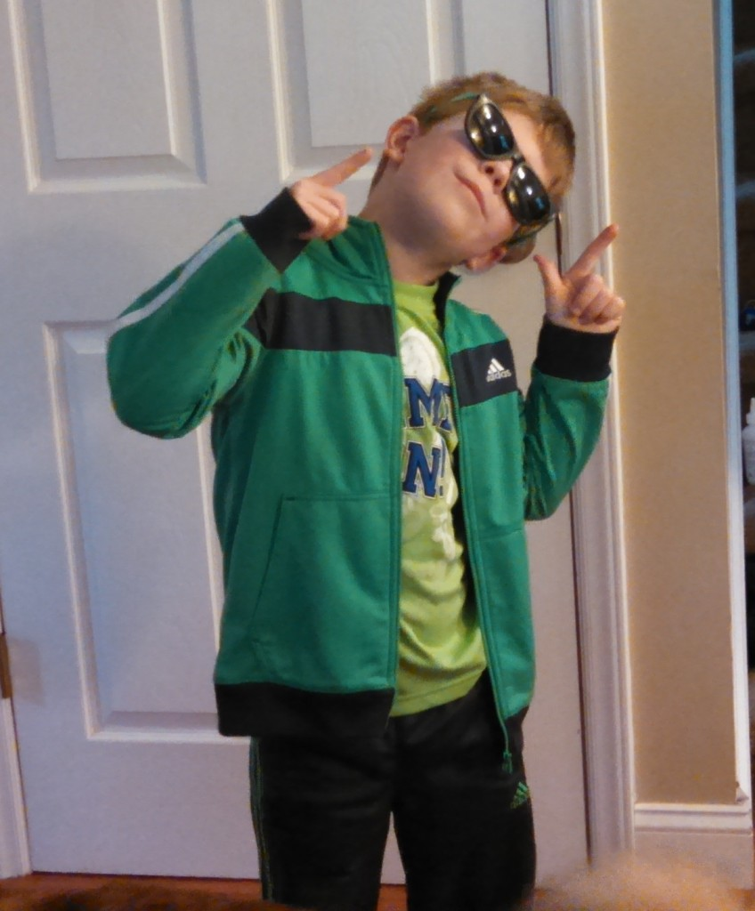 Snow days are a great time for a dance party. Carter is jamming to his R5 cd.