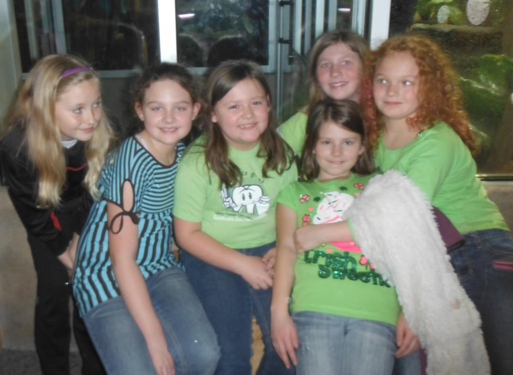 Caroline and some friends at the North Carolina Museum of Natural Sciences.