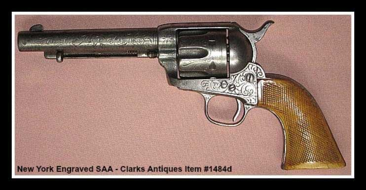 Nimschke Engraved Colt SAA with checkered grips