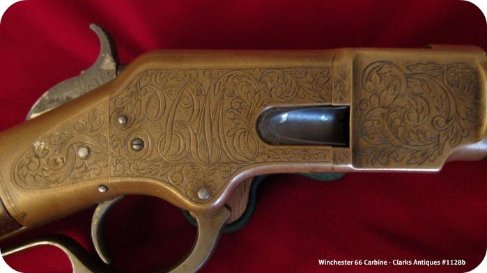 Winchester 1866 Carbine - Stylized RM Engraving
