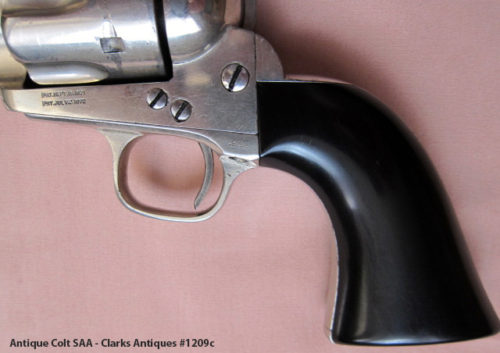 Antique Colt SAA 45 with Ebony Grips