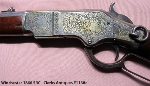 Engraved Winchester 1866 SRC - Left Side
