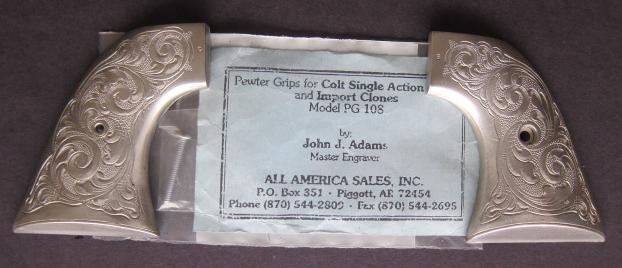 Engraved SAA Pewter Grips