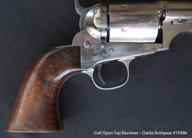 Colt Open Top Revolver - Burl Wood Grips