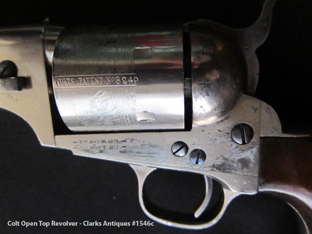 Colt Open  Top Revolver Markings