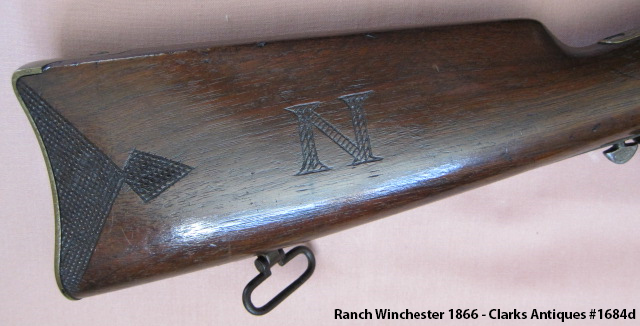 """101 Ranch Winchester 1866 - Carved """"N"""""""