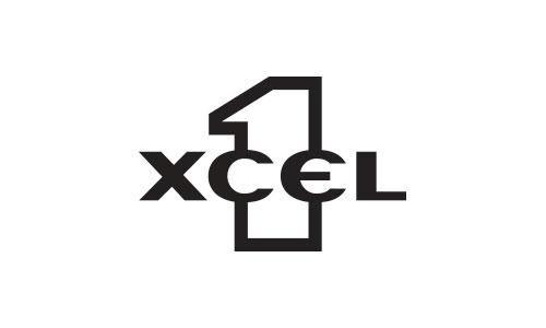 1XCEL sunglasses logo design