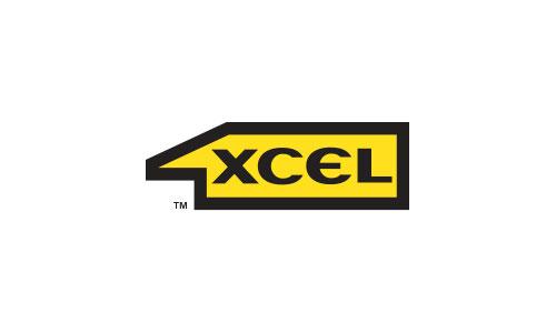 1XCEL horizontal football shield logo design