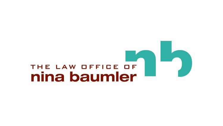 Nina Baumler lawyer logo design