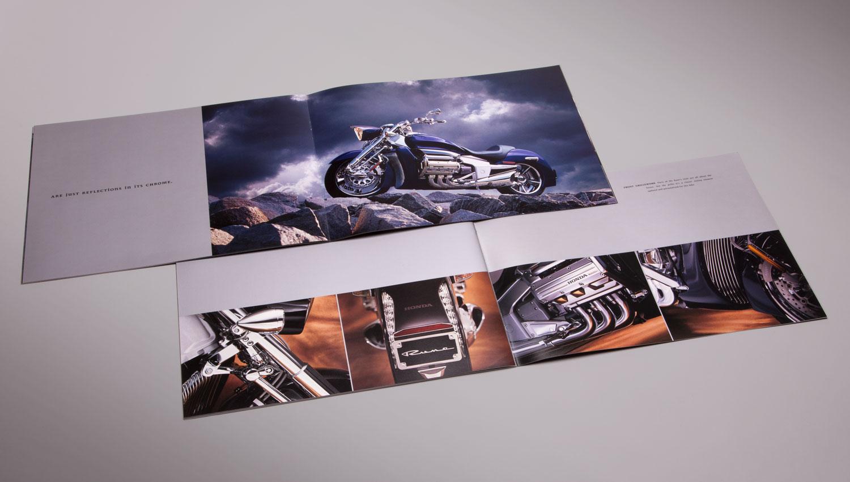 Rune motorcycle printed brochure design