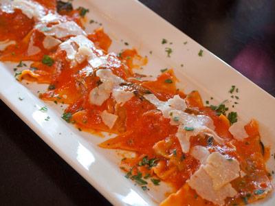 food photography ravioli