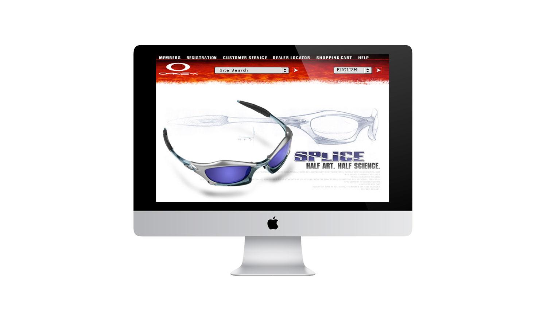 oakley website design