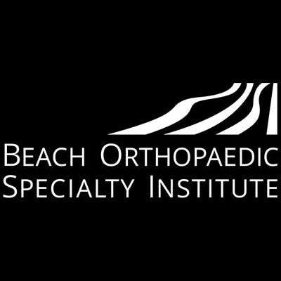 Beach Orthopedics medical logo design