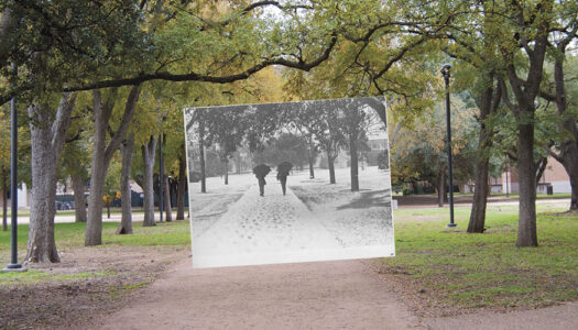 Campus Scene: Then and Now