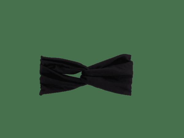 Black Jersey Twist Headband