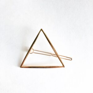 Gold Triangle Hair Clip