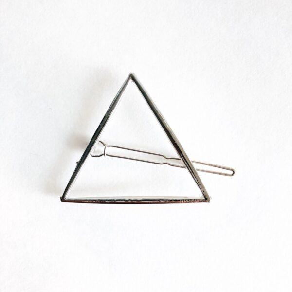 Silver Triangle Hair Clip